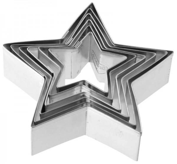 Plätzchen-Ausstecher Sterne 6 Stk - Dr. Oetker 1061